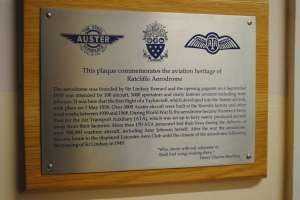 ATA Commemorative plaque within Ratcliffe College